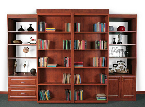 BC-1 Bookcase closed, bed concealed