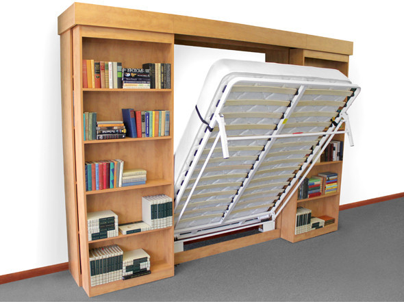 Sliding Wall Beds : Library bc sliding bookcase